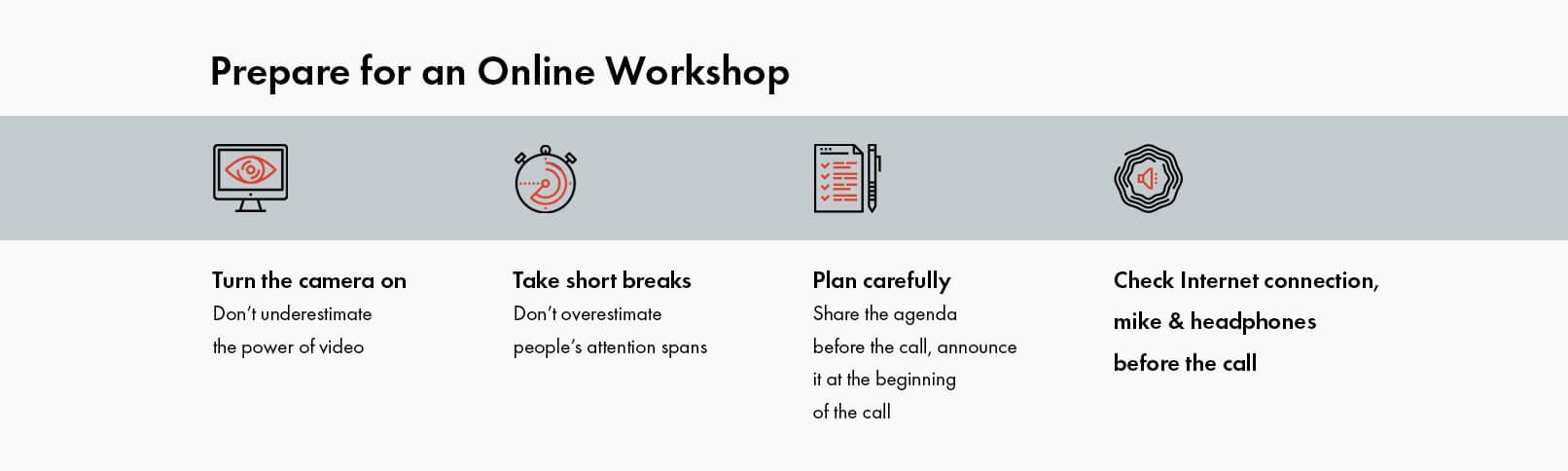 Online Workshop Tips