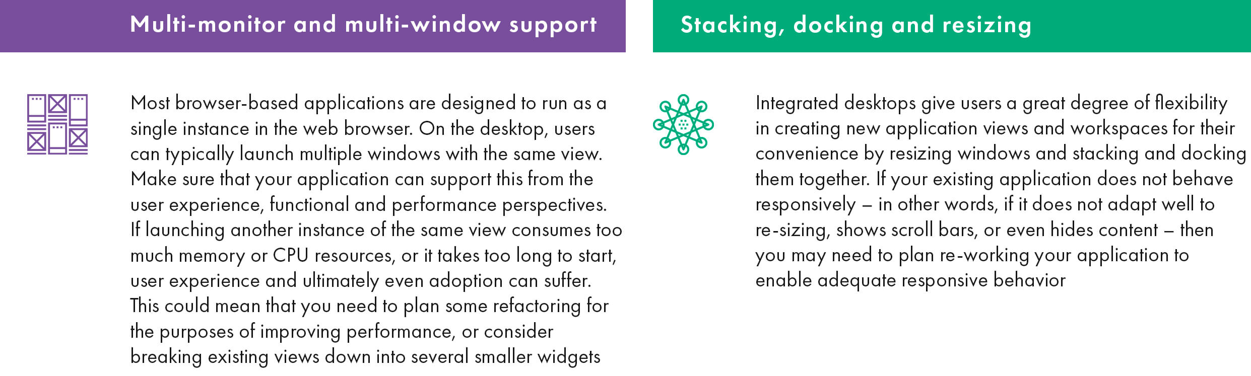 Desktop-native elements to be supported on integrated desktop