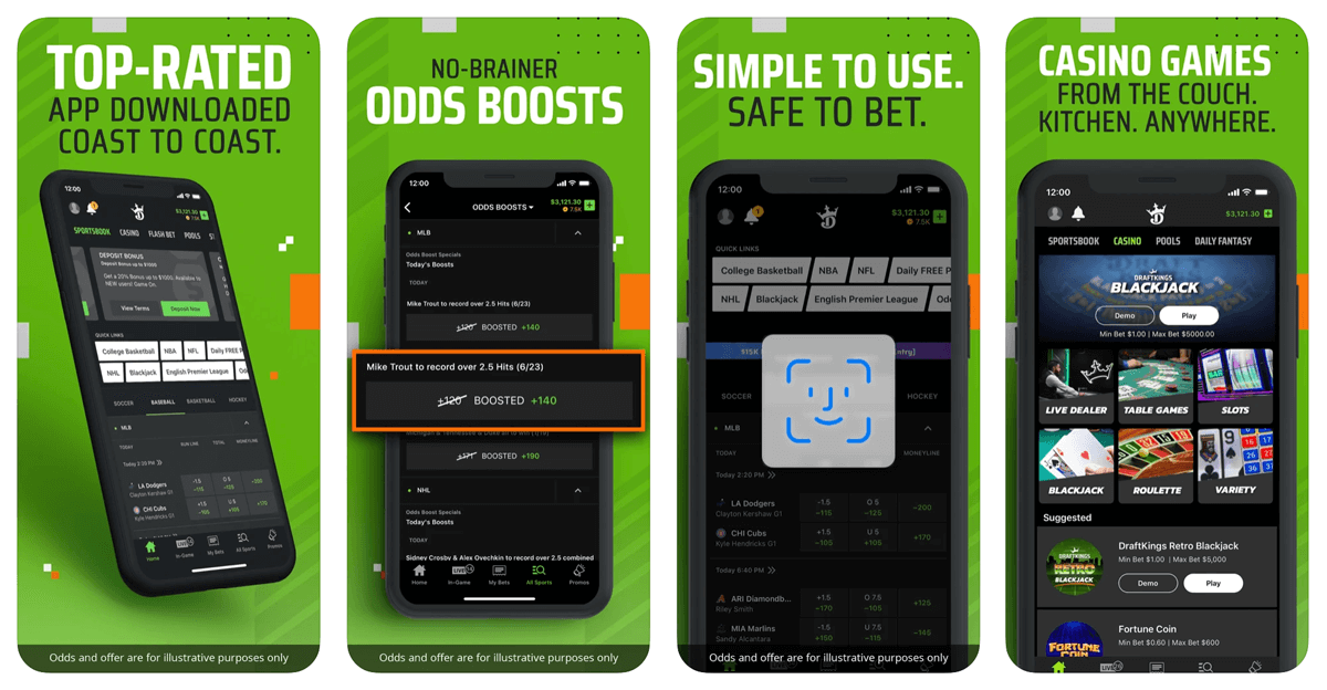 Example of a movile app for betting