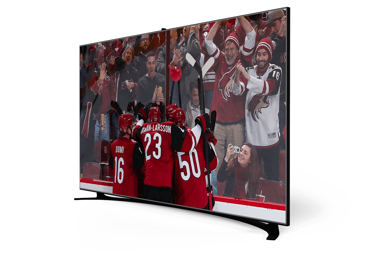 a large TV-screen